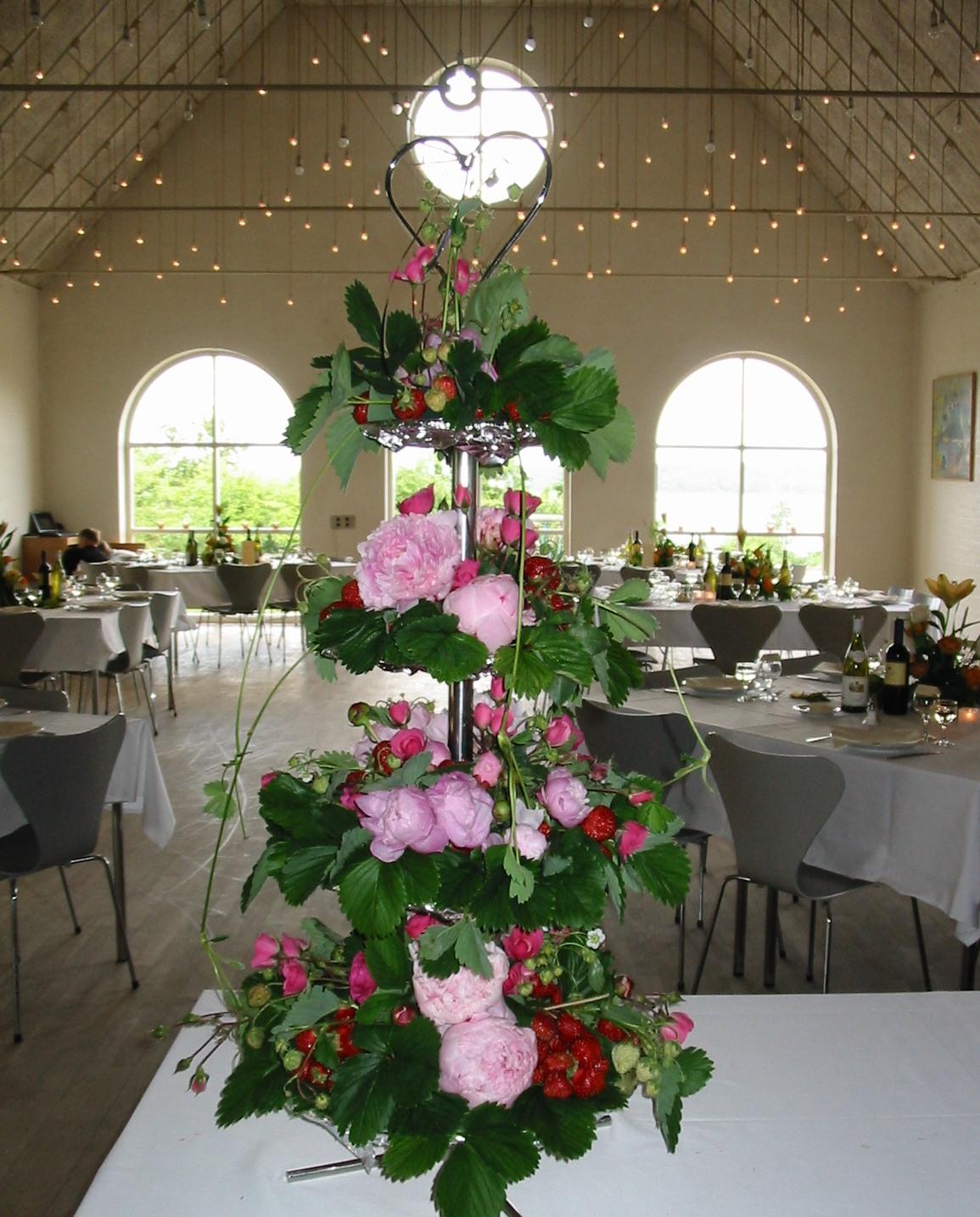 blomsterdekorationer bryllup